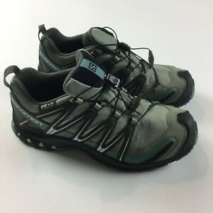 Salomon XA Pro 3D V8 womens Shoes 10.5 Blue Hiking Shoes Waterproof Hiking