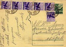 1949 intero postale democratica lire 12 con c.mi 50 plurimi - splendido