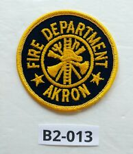 Akron Fire Department Dept. Shoulder Iron On Patch