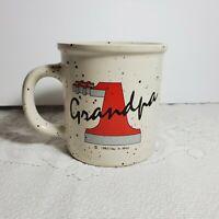 """Coffee Mug #1 Grandpa Cup c1983 Clay in Mind 3 3/4"""" H 31/2"""" D Grandfather OA4A06"""