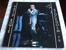 David Bowie Live in Stockholm 1979 2 LP unofficial VERY RARE OOP! Ziggy Stardust