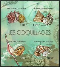 Burundi Coquillages Shells Clams Muscheln Non Denteles Imperfs Proofs ** 2012
