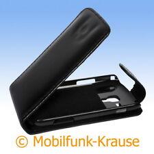 Flip Case Etui Handytasche Tasche Hülle f. Samsung GT-S7562 / S7562 (Schwarz)