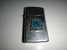 Year 1986 Zippo Slim Lighter With US Army SECURITY AGENCY ASA SCHOOL Emblem