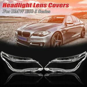 For BMW 5 Series E60 E61 525i 530i 540i Headlight Cover Headlamp Len Repalcement