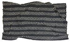 Black and white cotton Bogolan mud cloth textile chevron design, Mali MP2