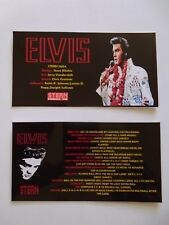 * * ELVIS' Stern 2004 Custom Instruction/Apron Cards * * (New)