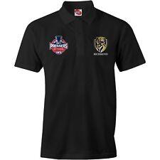 AFL Richmond Tigers Mens 2017 Premiers Black Polo