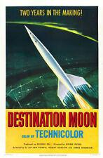 "Destination Moon Poster Replica 13x19"" Photo Print"