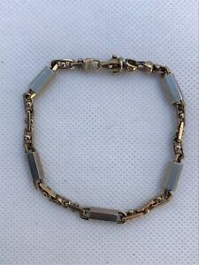 "10KT Yellow & White Gold Bracelet 14.3 Grams 8"" (NOT SCRAP SEE PICS)"