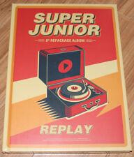 SUPER JUNIOR REPLAY 8TH ALBUM Repackage CD + PHOTO CARD + POSTER IN TUBE CASE