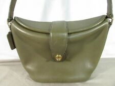 Vintage Coach Olive Green Purse 0874-446