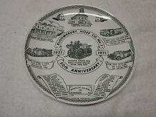 Vintage 1971 BLOOMSBURY NJ Fire House Hose Co # 1 Kettlesprings Plate N-Mint