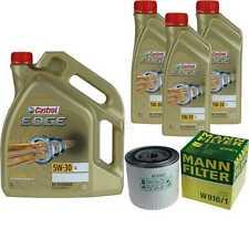 Inspection Kit Filter Castrol 8L Oil 5W30 For Ford Granada Gu 2.3 2.8i 2.8