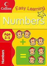 Collins Easy Learning Book - NUMBERS - AGES 3-5, AGE 3-5 - NEW