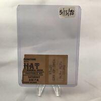 Foghat Cumberland County Memorial Arena NC Concert Ticket Stub Vtg May 13 1978