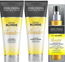 JOHN FRIEDA Go Blonder LIGHTENING Shampoo & Conditioner & HIGHLIGHT Spray