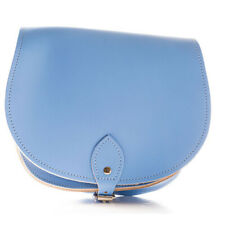Ladies Hand Made London Blue Leather satchel Saddle Bags Available many colours