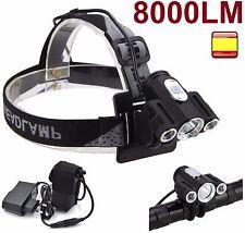 Linterna frontal recargable y luz de bicicleta 2 en 1 qutdoor 8000LM xm-l xml t6