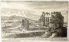 """Eau-forte, G. Pérelle, """"Vue de Paris,Hostel de Monsieur le commandeur de Iarre """""""