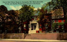 Postcard Carvel Hall Annapolis MD Washington's Dance in this House