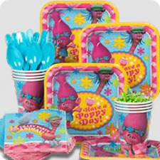 Trolls Kids Birthday Party Supplies 8 Guest Plates Cups Forks Napkins Tableware