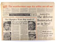 Vintage August 3 1976 Toronto Star Front Page Only Olympics Worth It M166