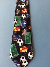 mens soccer theme tie