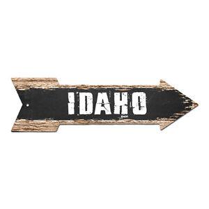 AP-0057 IDAHO Arrow Street Tin Chic Sign Name Sign Home man cave Decor