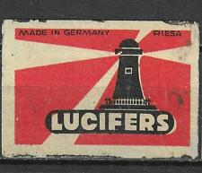 MATCHBOX LABELS-GERMANY. Lighthouse lucifers, export label, Riesa #