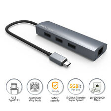 Wavlink Type C USB-C 3.0 3 ports hub Gigabit Ethernet RJ45 LAN Converter Adapter