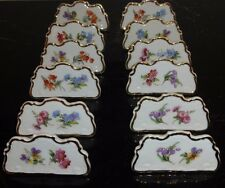 VINTAGE 1930s GEROLD PORZELLAN BAVARIA 12 HAND PAINTED FLORAL PLACE CARDS 5845/4