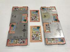 2x Vintage Bridge Casino Dealer Metal Shoe With All 52 Cards Ice Cream Parlor