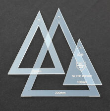 3 x piece isosceles triangle quilting template, sewing template set, bunting **