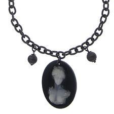 Halskette echt Silber 925 Sterling mit Anhänger Gemme Achat 40-45 cm Collier