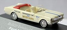 Ford Mustang 64 Cabriolet Indianapolis Pace Car 1965 weiß white 1:87 Busch