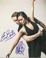Evan Bates & Madison Chock Figure Skating USA Olympics Signed 8x10 Photo COA E3