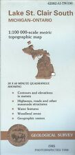 USGS Topographic Map  LAKE ST. CLAIR SOUTH Michigan 1988 - 100K -