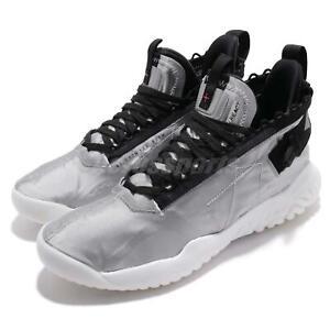 Nike Jordan Proto-React Silver Black Men Basketball Shoes Sneakers BV1654-002