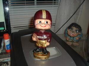 1962 Bobble Head Nodder Washington Redskins Gold Base Toes Up Football