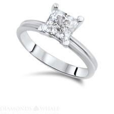 Ring 1.01 Ct Si1/D Gold Ring Princess Cut Enhanced Engagement Bridal Diamond