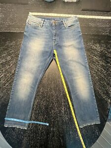 Men's Burberry Brit Swaine Straight Distressed Faded Wash Denim Jeans Size 33x29