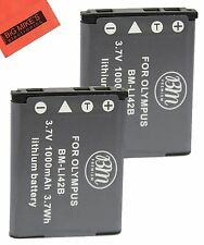 BM LI-42B 2X Batteries for Olympus Stylus 7020 7030 7040 Tough 3000 TG-310