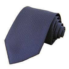 Navy Blue Grid 3.15'' 100% Silk Classic Jacquard Woven Man's Tie Necktie JS15