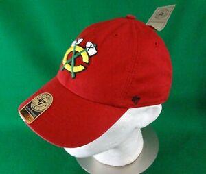 New CHICAGO BLACKHAWKS NHL '47 Brand red hat L large NWT