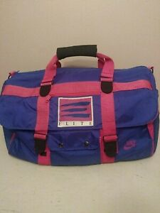 Nike Elite Bag Vintage 80s Track Gym Duffel Andre Agassi Purple Gray Tag RARE