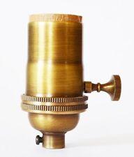 Antique Brass Lamp Socket - 5-Pack Light Socket - Vintage Pendant - Light Bulb