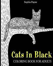 Cat Coloring Books for Girls: Cats in Black : Coloring Book for Adults by V....