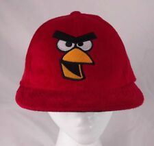 Angry Birds Red Fuzzy Adult Flatbill Baseball Snapback Cap Hat