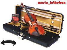 New Model- Student/Beginner 4/4 Solid Wood Violin +Bow +Case +Rosin +String set